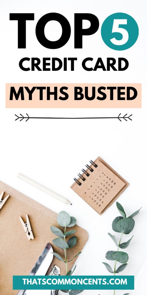 credit card myths busted